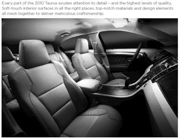 2010 Taurus Interior