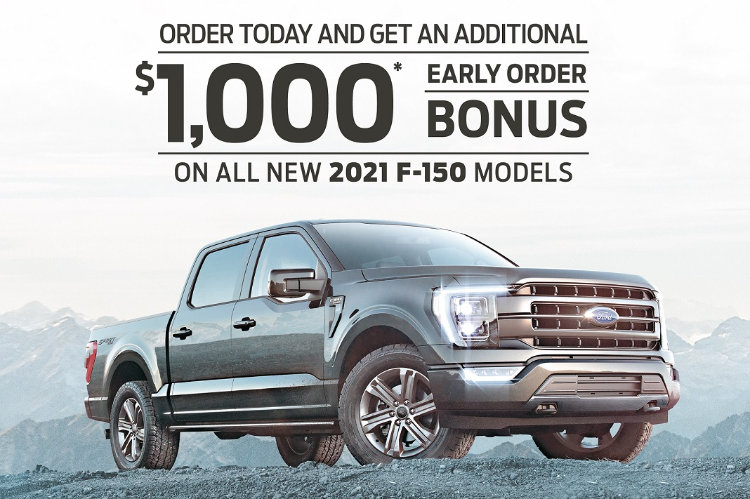 Time is running out on the 2021 Ford F-150 factory order rebate from Ford of Canada.